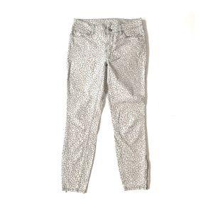 Loft Gray Snow Leopard Jeans